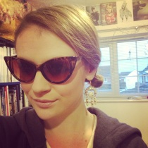 Cat-eye sunglasses, £6 in a vintage shop.
