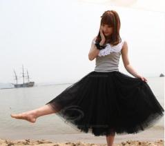 Black tutu skirt, I bought two of these to layer over each other to make more of a voluminous look! I will pair them with a scruffy tee and some biker boots with a leather jacket.